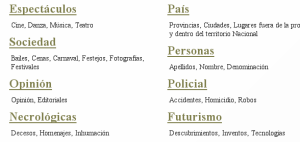 Categorías Internet