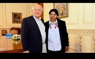 Lifschitz recibió a Margarita Barrientos